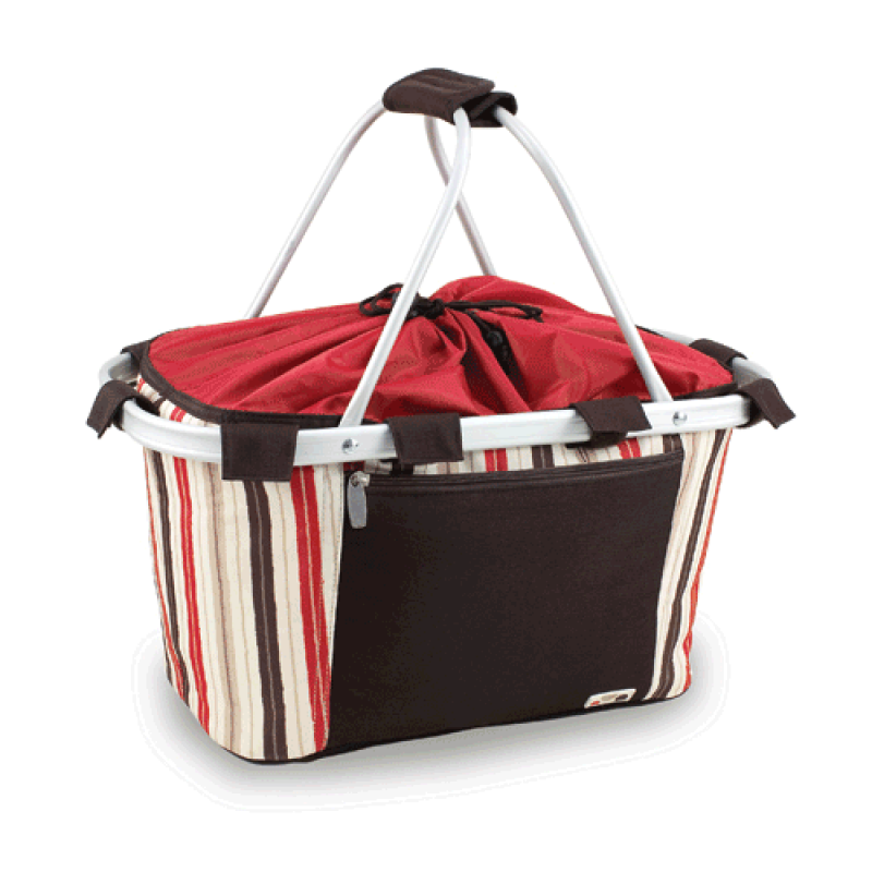 Collapsible Insulated Picnic Basket For 4 : Metro collapsible picnic basket moka picnicbaskets