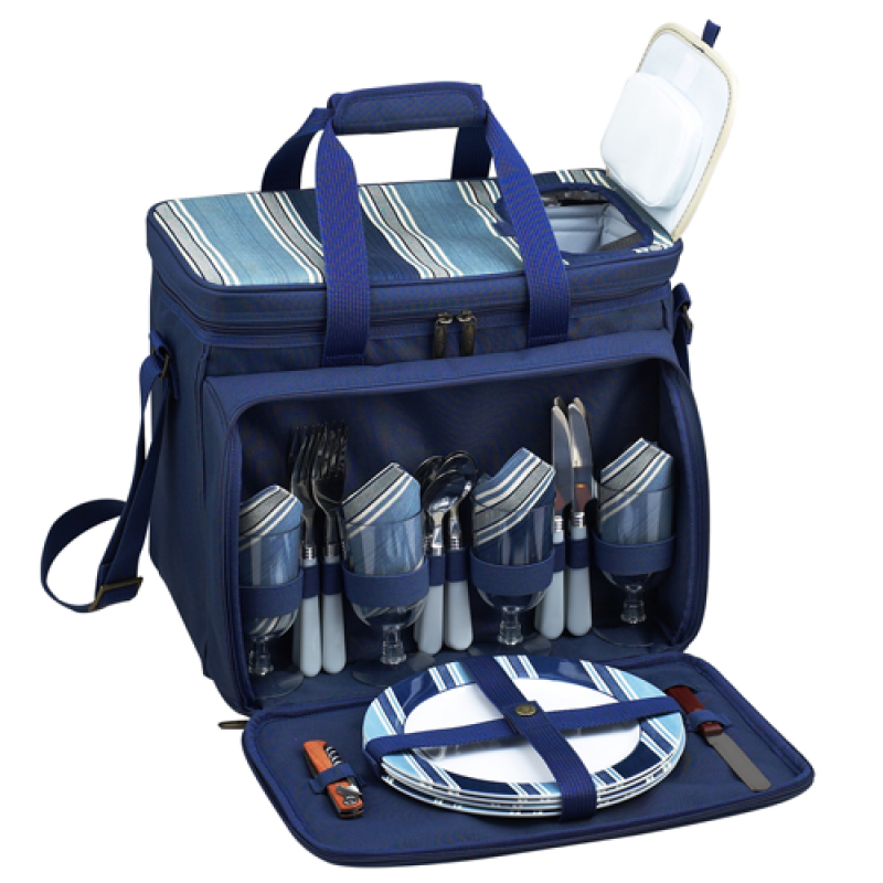 Picnic At Ascot Aegean Picnic Cooler for 4