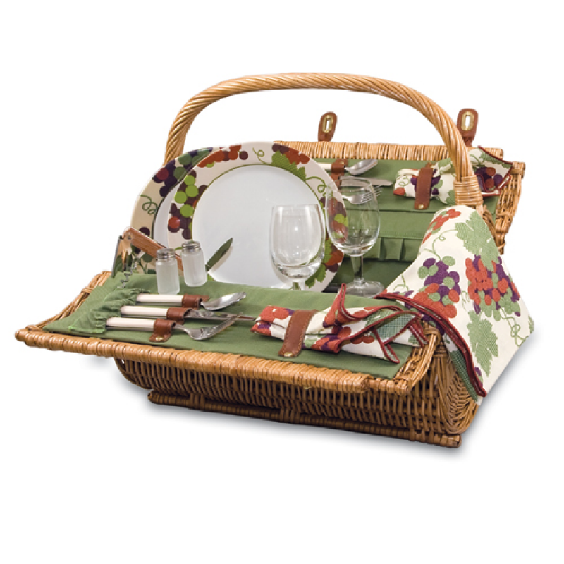 Picnic Time Barrel Picnic Basket for 2