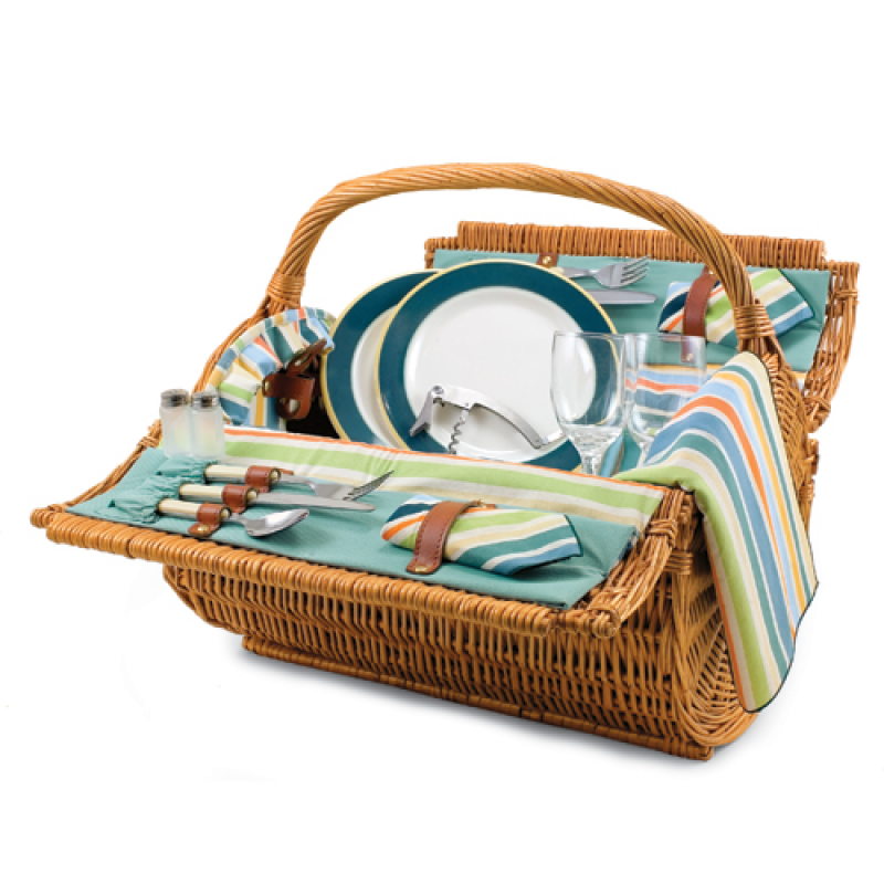 Picnic Time Barrel St. Tropez Picnic Basket for 2