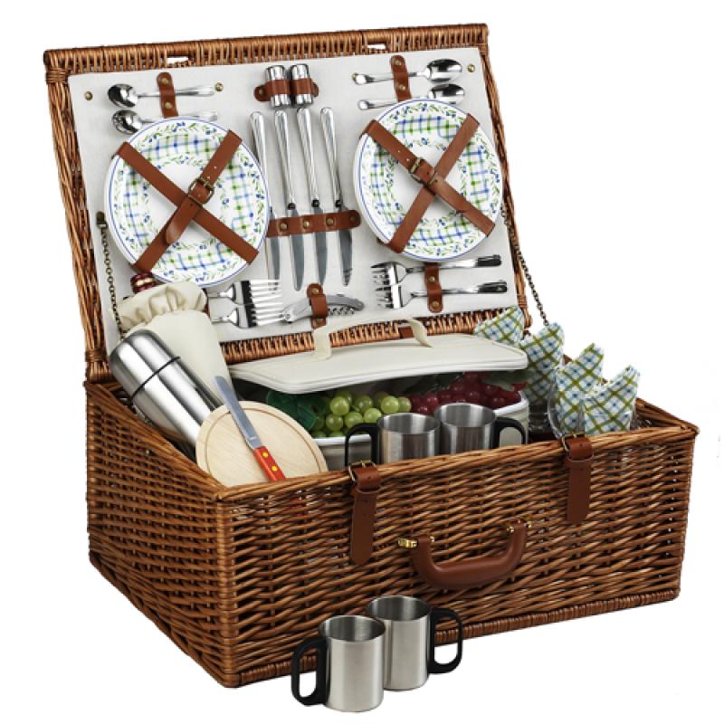 Picnic At Ascot Dorset Picnic Basket for 4 w Coffee Service Gazebo