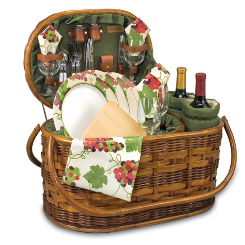 Picnic Baskets For 4 Ireland : Picnic time merlot deluxe basket for