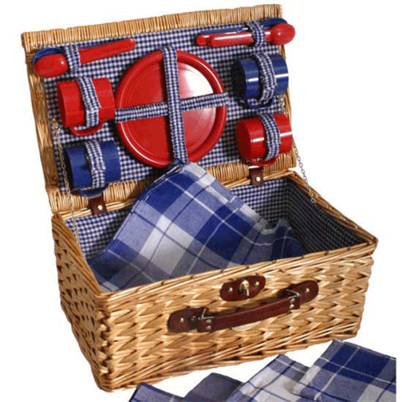 Sutherland Scout Picnic Basket for 4