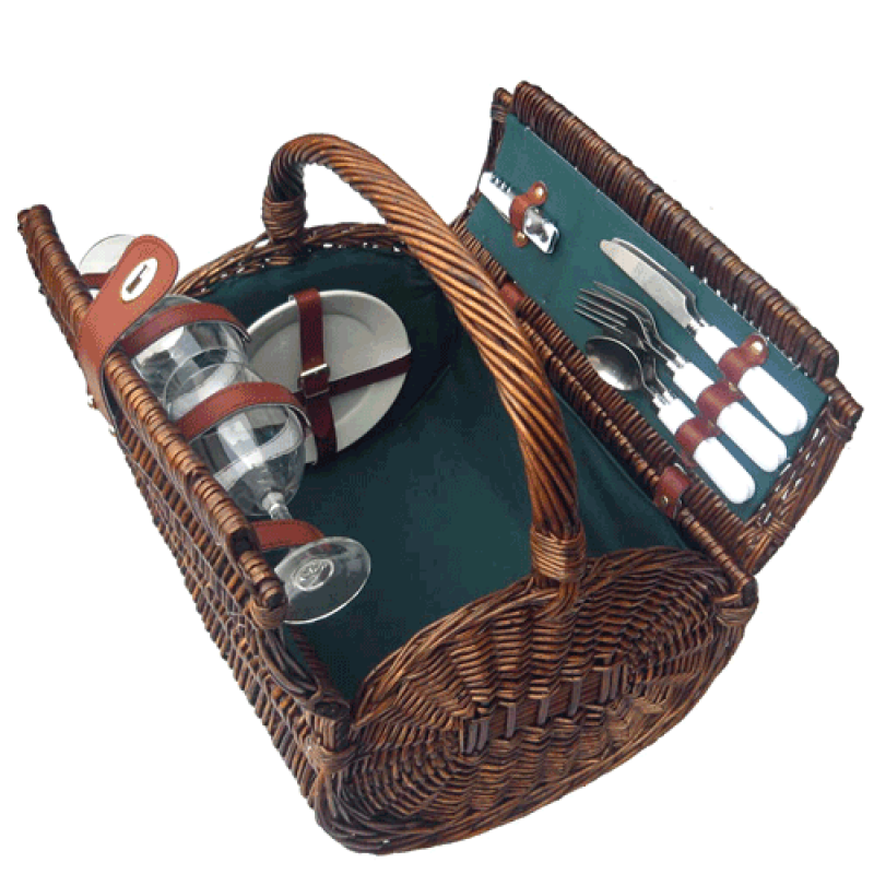 Sutherland Tierce Picnic Basket for 2
