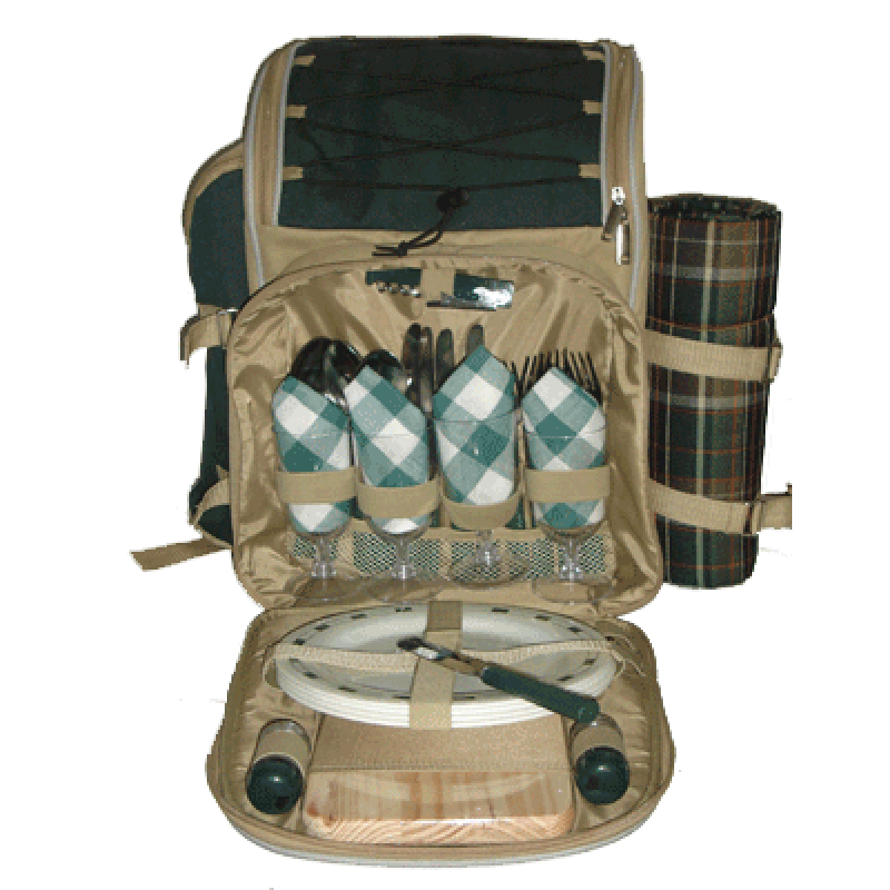 Sutherland Aztec Picnic Backpack for 4