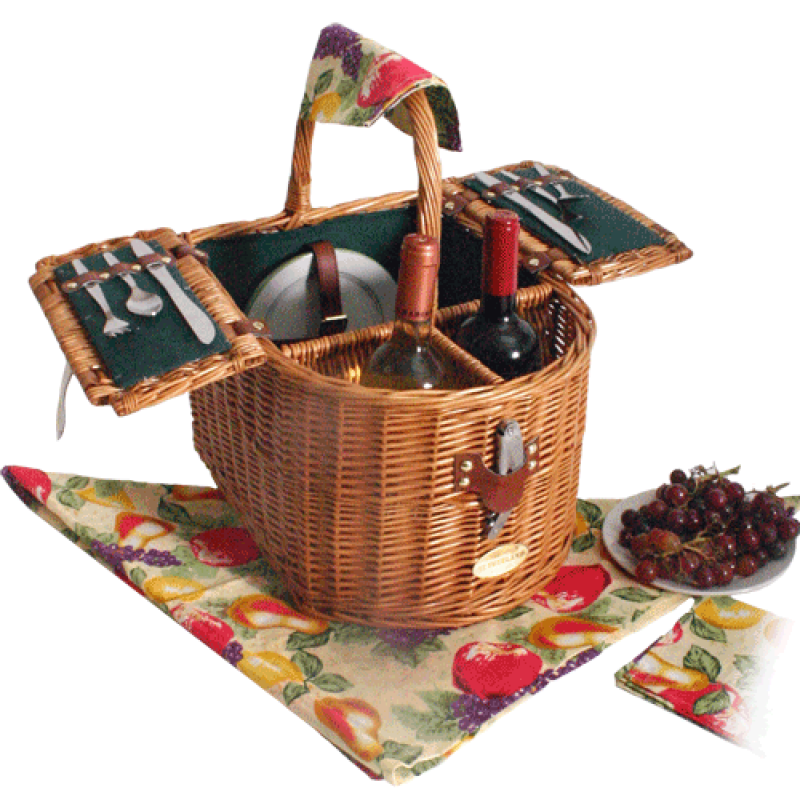 Sutherland Doppio Vino Wine Picnic Basket for 2