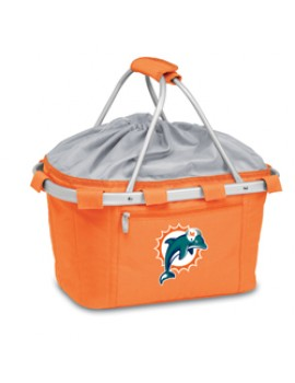 Picnic Time NFL Metro Collapsible Picnic Basket - Miami Dolphins