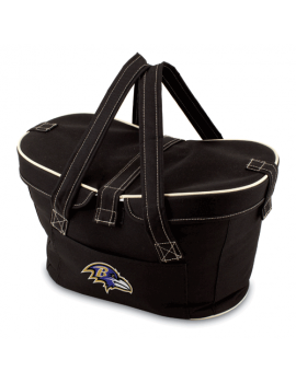 Picnic Time NFL Mercado Empty Picnic Basket - Baltimore Ravens