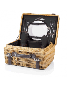 Picnic Time Champion Picnic Basket for 2 - Black