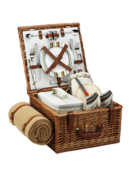 Picnic At Ascot Cheshire Picnic Basket for 2 w Blanket Santa Cruz
