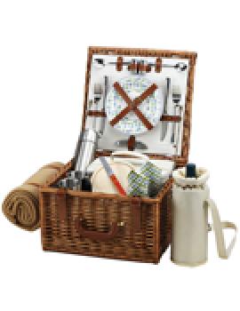 Picnic At Ascot Cheshire Picnic Basket for 2 w Coffee Set & Blanket Gazebo