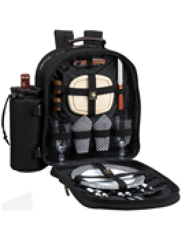 Picnic At Ascot Classic Picnic Backpack for 2 Black