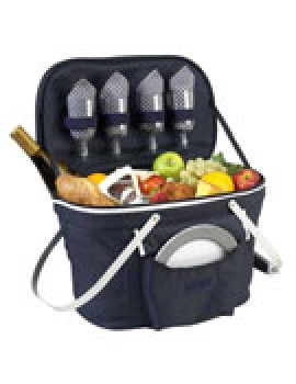 Picnic At Ascot Collapsible Insulated Picnic Basket for 4