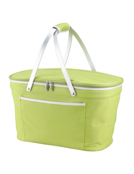 Picnic At Ascot Collapsible Insulated Basket Cooler Apple Green