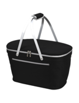 Picnic At Ascot Collapsible Insulated Basket Cooler Black