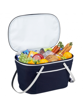 Picnic At Ascot Collapsible Insulated Basket Cooler Blue