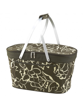 Picnic At Ascot Collapsible Insulated Basket Cooler Olive Floral