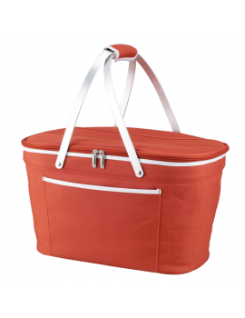 Picnic At Ascot Collapsible Insulated Basket Cooler Orange
