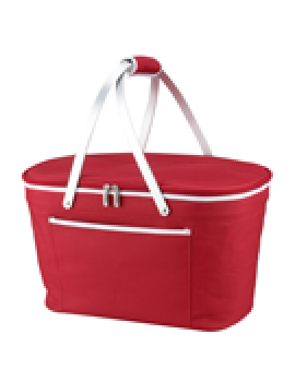 Picnic At Ascot Collapsible Insulated Basket Cooler Red