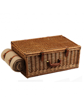 Picnic At Ascot Dorset Picnic Basket for 4 w Blanket Santa Cruz