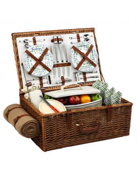 Picnic At Ascot Dorset Picnic Basket for 4 w Blanket Gazebo