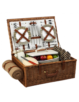 Picnic At Ascot Dorset Picnic Basket for 4 w Blanket London