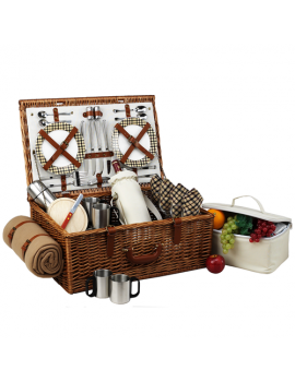 Picnic At Ascot Dorset Picnic Basket for 4 w Coffee Set & Blanket London