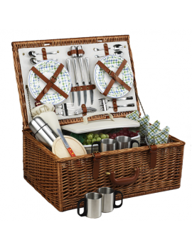 Picnic At Ascot Dorset Picnic Basket for 4 w Coffee Service Gazebo