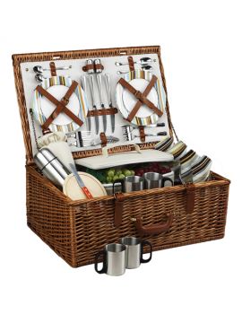 Picnic At Ascot Dorset Picnic Basket for 4 w Coffee Service Santa Cruz