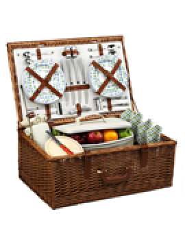 Picnic At Ascot Dorset Picnic Basket for 4 Gazebo