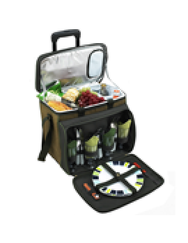 Picnic At Ascot Eco Picnic Cooler for 4 w Wheeled Cart