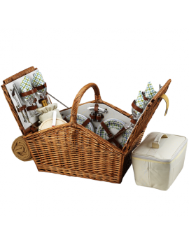 Picnic At Ascot Huntsman Picnic Basket for 4 w Blanket Gazebo