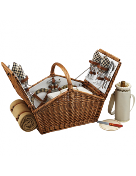 Picnic At Ascot Huntsman Picnic Basket for 4 w Blanket London