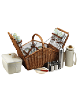 Picnic At Ascot Huntsman Picnic Basket for 4 w Coffee Service Gazebo