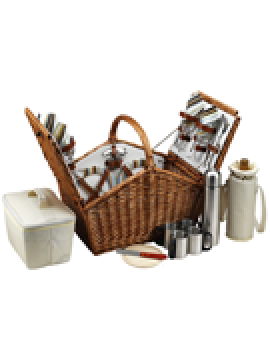 Picnic At Ascot Huntsman Picnic Basket for 4 w Coffee Service Santa Cruz