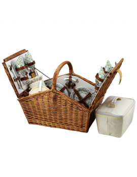 Picnic At Ascot Huntsman Picnic Basket for 4 Gazebo