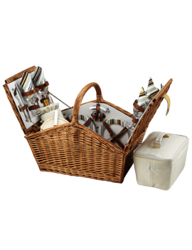 Picnic At Ascot Huntsman Picnic Basket for 4 Santa Cruz