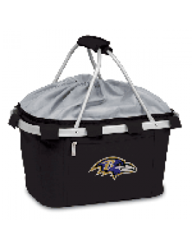 Picnic Time NFL Metro Collapsible Picnic Basket - Baltimore Ravens
