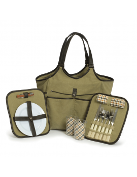 Picnic Plus Palmetto Picnic Tote for 2 Olive