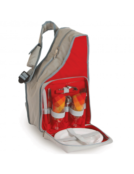 Picnic Plus Fiesta Slingback Picnic Set for 2 Red