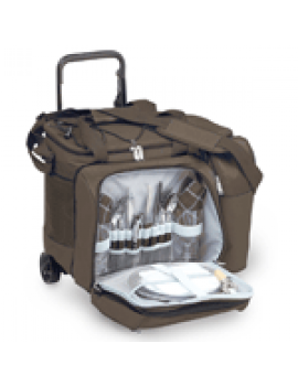 Picnic Plus Tango Trolley Picnic Tote on Wheels for 2 Brown