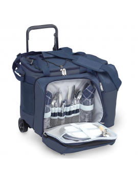 Picnic Plus Tango Trolley Picnic Tote on Wheels for 2 Navy