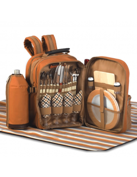 Picnic Plus Tremont Picnic Backpack for 4 Brown