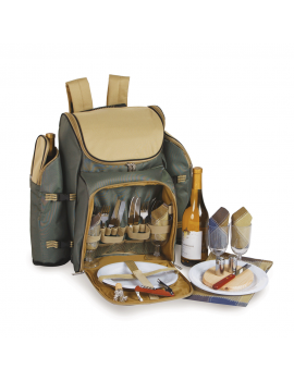 Picnic Plus Tandoor Picnic Backpack for 4 Sage