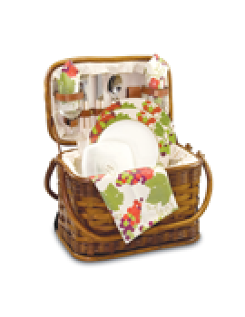Picnic Time Romance Picnic Basket for 2