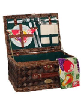 Sutherland Classic Country Picnic Basket for 2